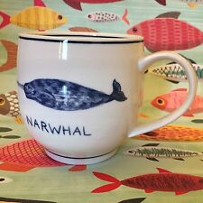 Anthropologie Narwhal Nautical ICON MUG Molly Hatch Coffee Cup * Great Gift