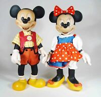 "Anri Disney Original Woodcarvings: ""Mickey and Minnie Mouse""., Limited Ed."