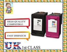 2 cartuchos de inyección de tinta remanufacturados hp302BK&C De Alta Calidad Hp Originales