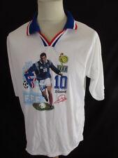 Maillot de football vintage Zinedine ZIDANE 1998 FFF Blanc Taille XL