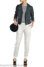 NWT $297 Rag & Bone Jeans Pajama Jean Digital White Miramar Sweatpant Jogg sz L