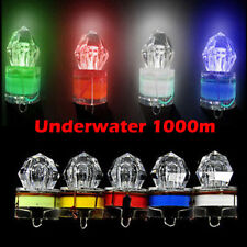 5xLED Deep Drop Underwater Diamond Flashing Fishing Light Squid Strobe Bait Lure