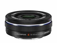 Olympus Electric Pancake Zoom Lens M.Zuiko Digital Ed 14-42Mm F3.5-5.6 Ez Blk