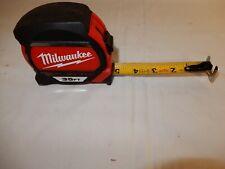 milwaukee tools used 35 ft magnetic tape measure 48-22-7135 used in good shape