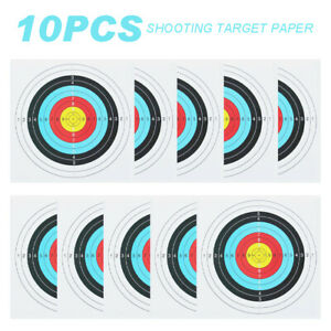 10X Archery Target Paper for Arrow Bow Shooting Face Training Hunting