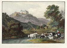 AUGUSTUSBURG - SCHLOSSANSICHT - James Carter - Stahlstich 1847