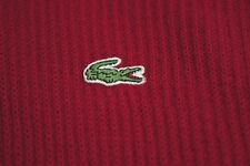 LACOSTE men's Red Wool Blend Zip Neck Jumper SIZE XL
