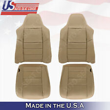 2x tops & 2x bottoms Leather Seat Cover TAN 2002 to 2007 Ford F250 F350 Lariat