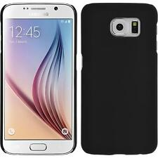 Hardcase for Samsung Galaxy S6 rubberized black Cover + protective foils