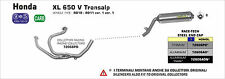 SILENCIEUX ARROW ALU DARK HONDA XLV 650 TRANSALP 2000/07 - 72606AON