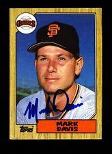 1987 TOPPS MARK DAVIS #21 GIANTS SIGNED VINTAGE AUTO BOLD!
