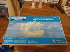 Creatology Military Sailing Ship Wooden 3D Puzzle - & Instructions brand New