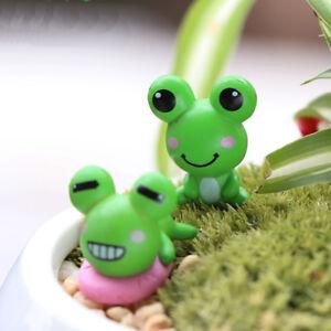 2Pcs Mini Artificial Frog Miniature Fairy Garden Decoration Accessories Handmade