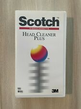 More details for 3m scotch video cassette head cleaner plus vhs svhs cleaning tape - made in uk
