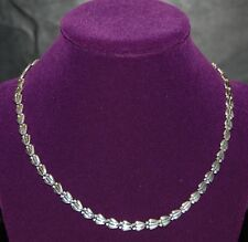 """Nice Shell Style Link .925 Sterling Silver Chain Made in Italy 17"""" long 14+ gr."""