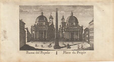 Piazza del popolo roma Italia Orig CUIVRE clés vasi 1816
