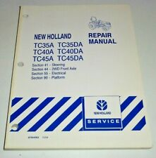 "New Holland TC35A/DA TC40A/DA TC45A/DA Tractor ""ELECTRICAL&STEER"" Repair Manual"