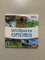 Wii Sports - FREE Shipping! (Wii, 2006) Disc And Manual With Sleeve