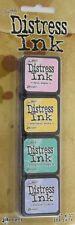 TIM HOLTZ MINI DISTRESS INK PADS SET #4 Scrapbooking Craft Mix Media Card Making
