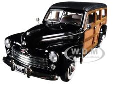 1948 FORD WOODY BLACK 1:18 DIECAST MODEL CAR BY ROAD SIGNATURE 20028