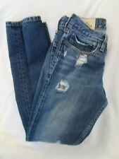 "Mens ""Hollister"" Size W28 X L30, Blue, Destroyed Skinny Jeans w/Button Fly"