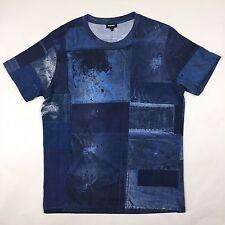 DIESEL-Blu T-Joe-HY T-Shirt-Taglia L - * Nuovo Senza Etichetta * RRP £ 60