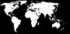 """world map black white  Print Photo  For Glass Frame Large 36"""" x 24"""" not canvas"""