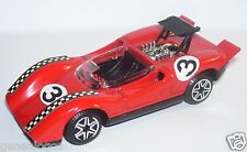 RARE POLITOYS EXPORT ABARTH 3000 ROUGE N°3 REF 594 1970 1/43