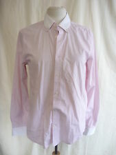 "Mens Shirt - GAP, size S/P 14-14.5"", slim fit, fine red stripe, white cuffs 7950"
