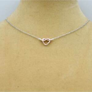 Sterling Silver 925 Gold Plated Heart Necklace by equilibrium