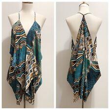 Cy USA Shoptiques Draped Ruffle Aztec Tribal Print Dress Sz S