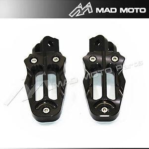 CNC Footrests For Honda Grom MSX125 2013 2014 2015 foot pegs for OEM mount black