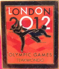 LONDON 2012 Olympic Games TEAKWANDO PIN Badge on Card Venue Pictogram Official
