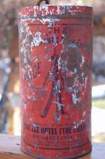 RARE Antique Lee Hotel Fire Escape Co. Tin Original Harness Poughkeepsie N.Y.