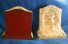 Vintage Cast Bookend Pair - Male Carrying Books on Shoulder - from Mythology?