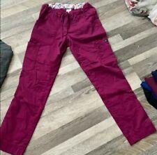 Koi Stretch By Kathy Peterson Women's Scrub Pants Size X-Small Petite Dark Pink