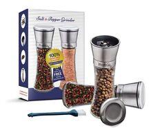 Salt And Pepper Grinder Set Stainless Steel Mill Shakers Set Adjustable Rotor