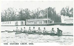 1906 POSTCARD: THE OXFORD CREW OF THE 1906 BOAT RACE, OXFORD