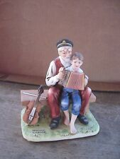 """1980 Norman Rockwell Figure.""""The Music Lesson"""".Dist. by Nr Museum.Gd.Cond."""