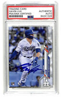Gavin Lux signed auto autograph 2020 Topps #292 rookie card PSA/DNA COA Dodgers
