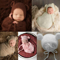 Pro Newborn Photography Props Infant Costume Outfit Baby Knit Mohair Photo TMD