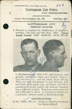 Nottingham Police 1951. George Arnold Fawcett (born Middlesborough)     QR449