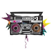 Totally 80s Boombox - SuperShape Foil Balloons - 35 /88cm w x 17 /43cm h -
