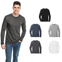 District Young Mens Long Sleeve Tee Lightweight Soft Spun Fashion T-Shirt DT6200