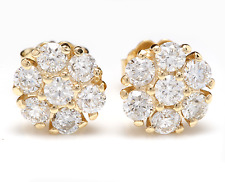 1.00Ct Natural Diamond 14k Solid Yellow Gold  Earrings