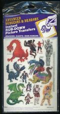 INSTANT RUB-DOWN PICTURE TRANSFERS SEALED 1500-1 Stickers D&D Dungeons Dragons