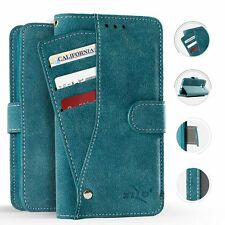 For LG K20 Plus Premium Slide Out Pocket Wallet Case Pouch Cover + Screen Guard