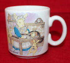 Laura Secord Bunnies Rabbits Cooking White Mug Cup Made in England Vintage