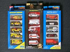 3 sealed 5 packs Hot Wheels & Maisto - Fire, Auto City & Rescue 15 cars total