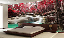 Photo Wallpaper Deep Forest Waterfall GIANT WALL DECOR PAPER POSTER FREE GLUE